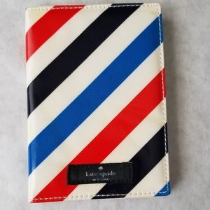 Kate Spade stripe patent leather passport holder